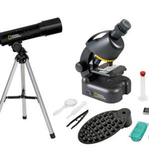 Bresser National Geographic Set 50 360 AZ Telescope and 40x–640x Microscope - Kомплект телескоп и микроскоп 73384 1
